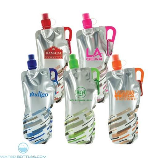 Custom Logo Water Bottles - Lazer Flat Fodable Water Bottles | 30 oz