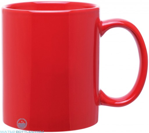 11 oz c-handle mugs-glossy-red