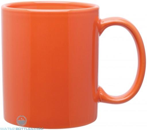 11 oz c-handle mugs-glossy-orange