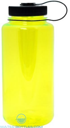 Nalgene Wide Mouth Water Bottles   32 oz - Neon Yellow