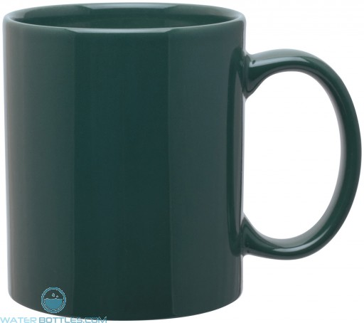11 oz c-handle mugs-glossy-green