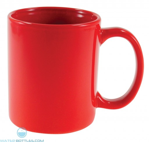 Cafe Mugs   11 oz - Red