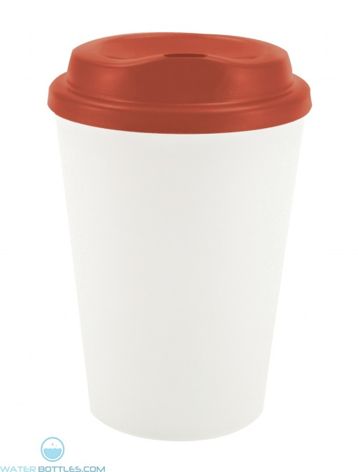 Grip N Go   12 oz - White with Red Lid