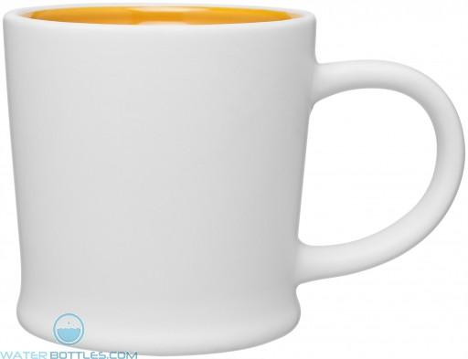 12 oz Matte White Turno Mug_Yellow Interior_Blank