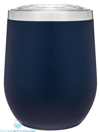 12 oz Powder Coated Thermal Tumblers-Blue