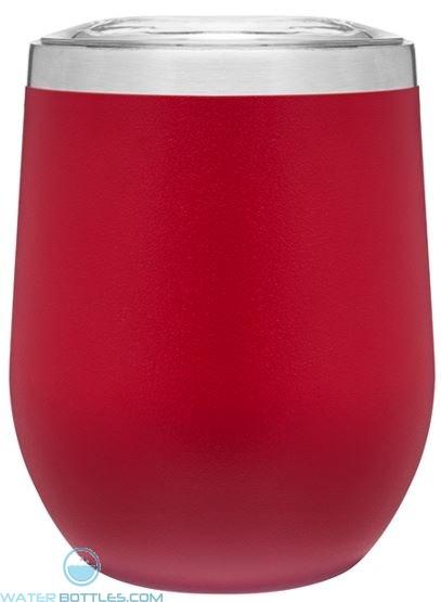 12 oz Powder Coated Thermal Tumblers-Red