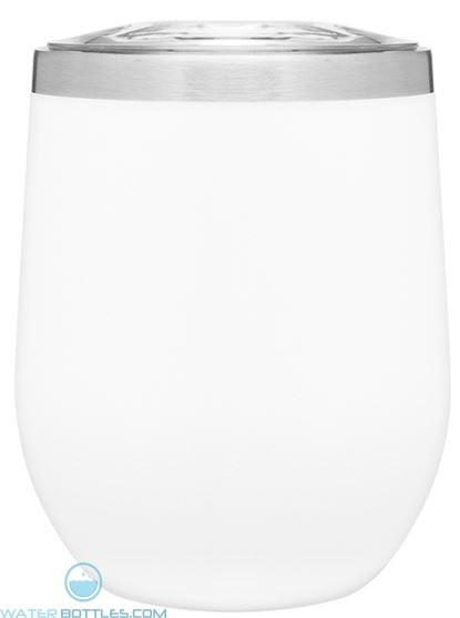 12 oz Powder Coated Thermal Tumblers-White