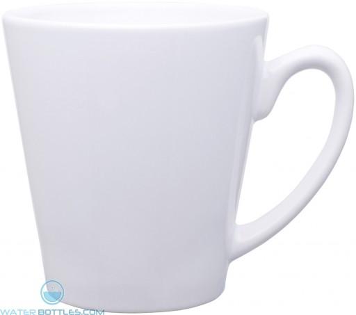 12 oz mini latte - glossy solid-white