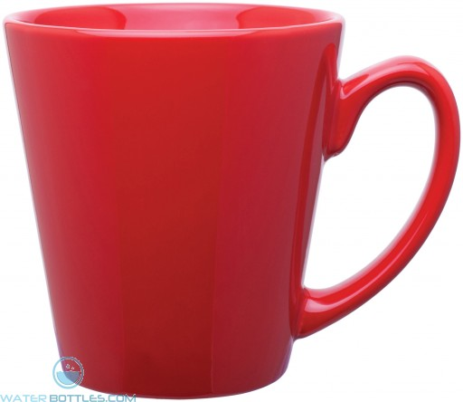 12 oz mini latte - glossy solid-red
