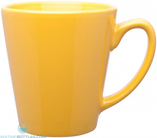 12 oz mini latte - glossy solid-yellow