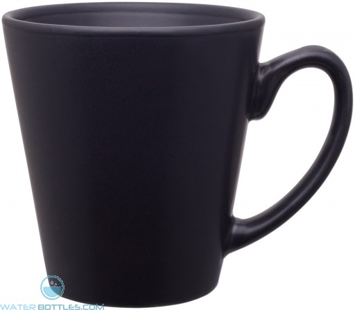 12 oz mini latte - matte finish-black