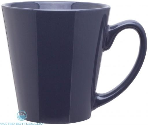 12 oz mini latte - glossy solid-storm gray