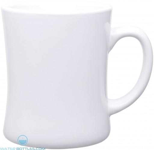 14 oz luna diner mugs - glossy-white