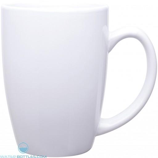 14 oz contour mugs - glossy-white