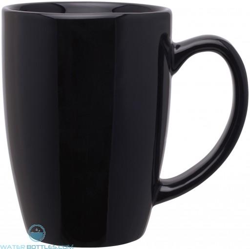 14 oz contour mugs - glossy-black
