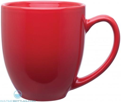 15 oz bistro mugs-glossy red