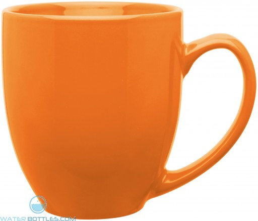 15 oz bistro mugs-glossy-orange