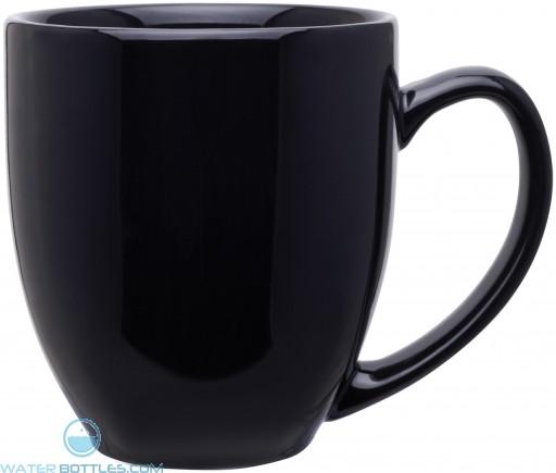 15 oz bistro mugs-glossy black