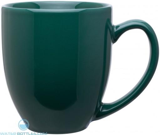 15 oz bistro mugs-glossy green