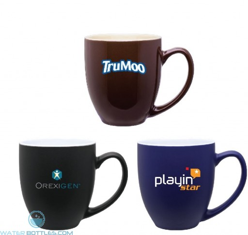 2 - Tone Ceramic Bistro Mug   15 oz