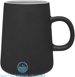 15 oz Inverti Ceramic Coffee Mugs-Matte Black