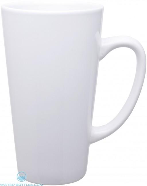 16 oz tall latte - glossy-white