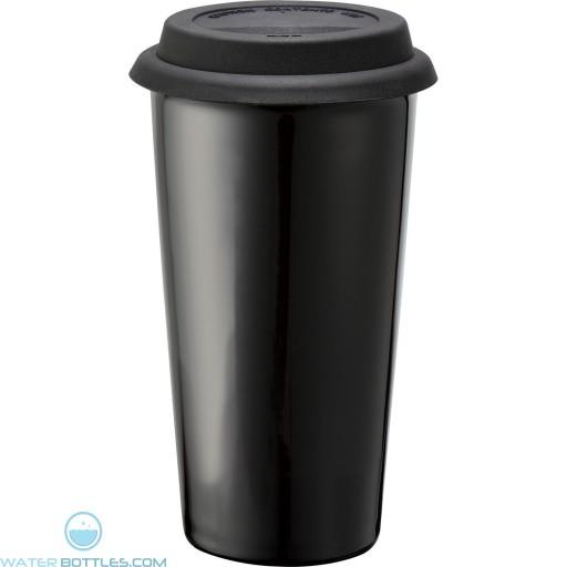 Promo Mega Black Ceramic Tumblers   15 oz - Black
