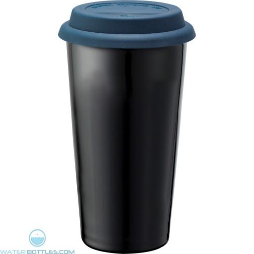 Promo Mega Black Ceramic Tumblers | 15 oz - Blue