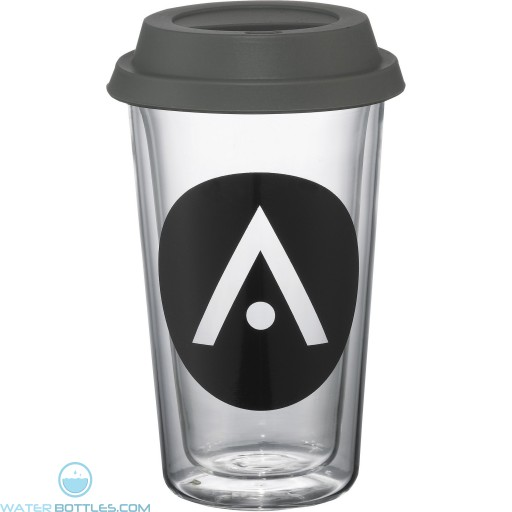 Double Wall Glass Tumblers | 10 oz - Gray