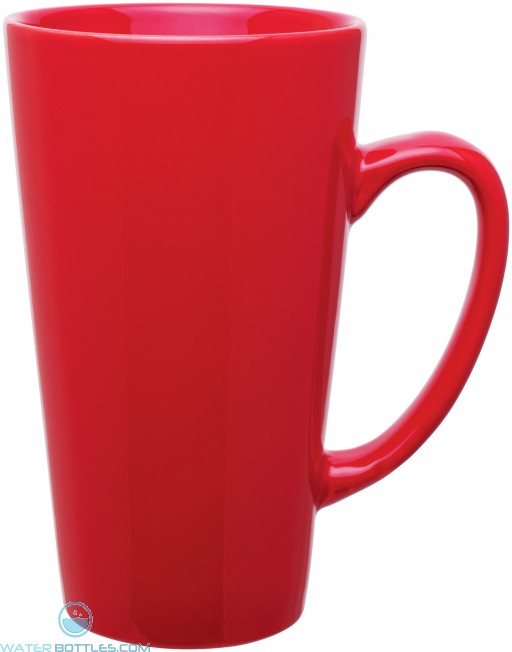 16 oz tall latte - glossy-red