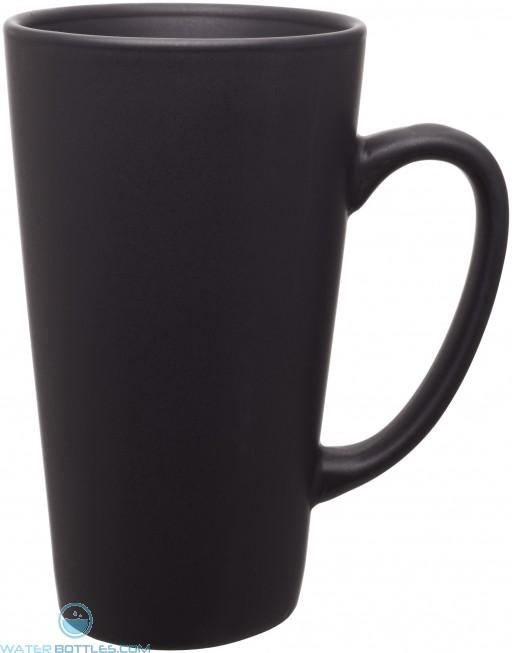 16 oz tall latte - matte finish-black