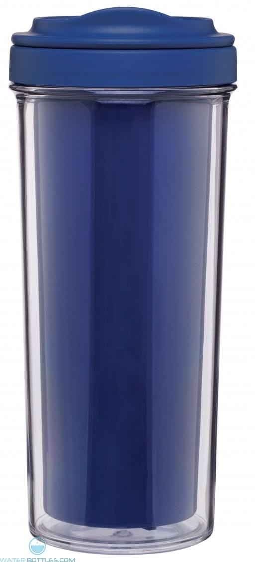 Evo Double Wall Tumblers   15 oz - Blue