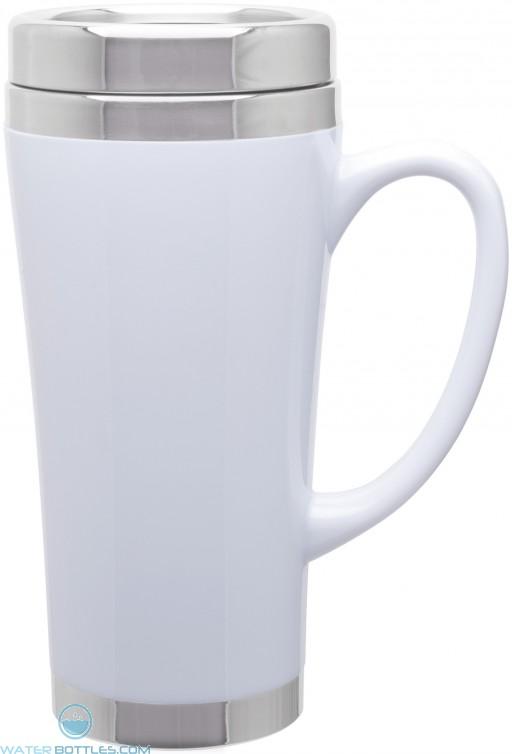 Fusion Insulated Travel Mugs | 16 oz - White