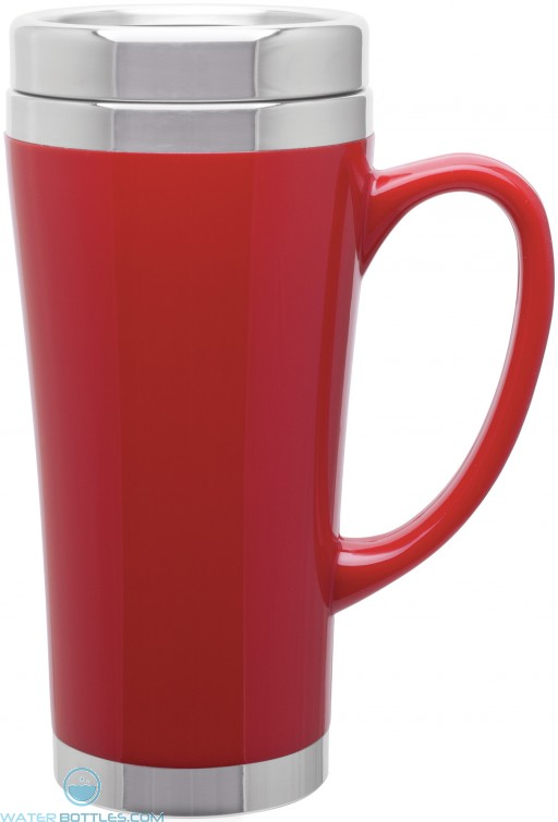 Fusion Insulated Travel Mugs | 16 oz - Red