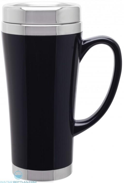 Fusion Insulated Travel Mugs | 16 oz - Black