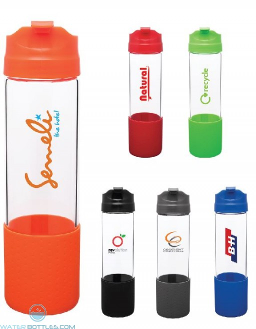 H2Go Pure Glass Water Bottles   18 oz