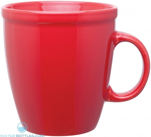 18 oz coffee house mugs-red