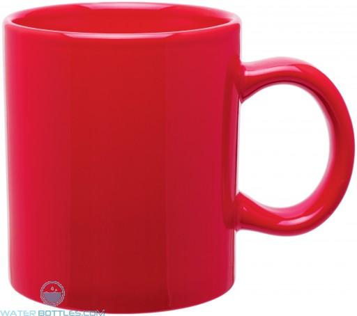 20 oz c-handle mugs - glossy-red