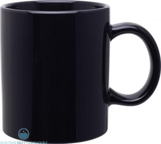 20 oz c-handle mugs - glossy-black