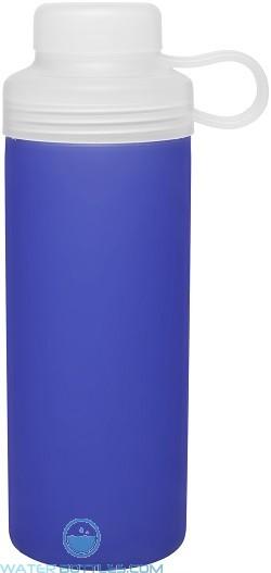 20 oz H2Go Zen Glass Water Bottles-Blue