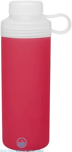 20 oz H2Go Zen Glass Water Bottles-Red