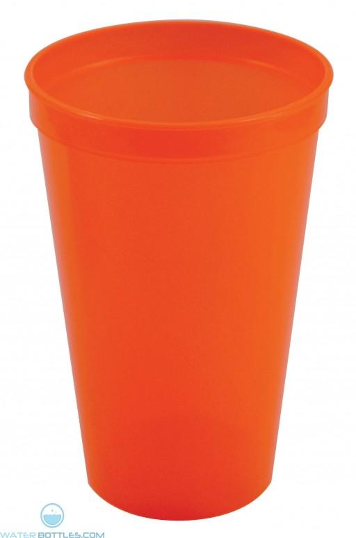 Stadium Cups   20 oz - Neon Orange