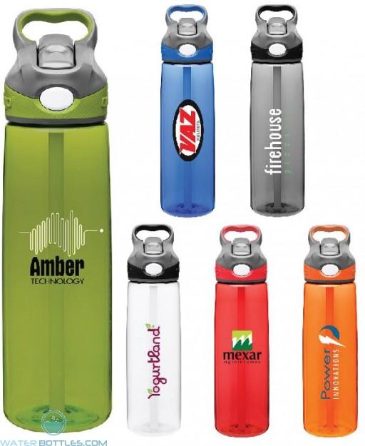 Custom Water Bottles - Contigo Addison Plastic Water Bottles | 24 oz