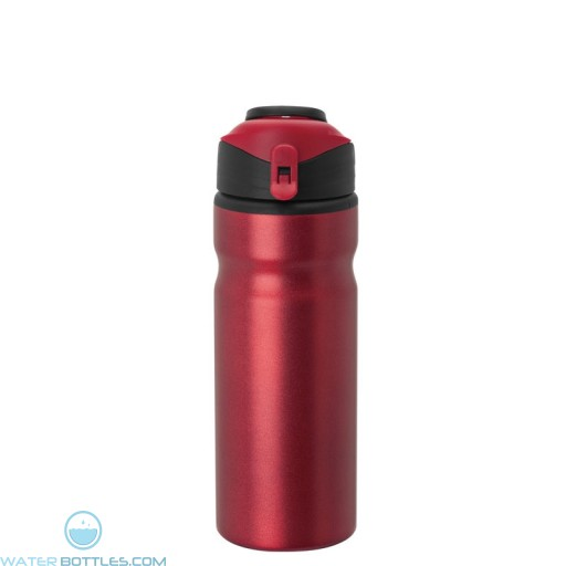 Aluminum Water Bottles   24 oz - Metallic Red