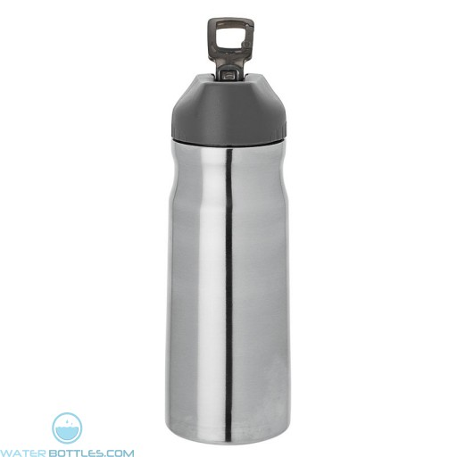 Steel Water Bottles | 26 oz - Stainless Steel with Black Spout