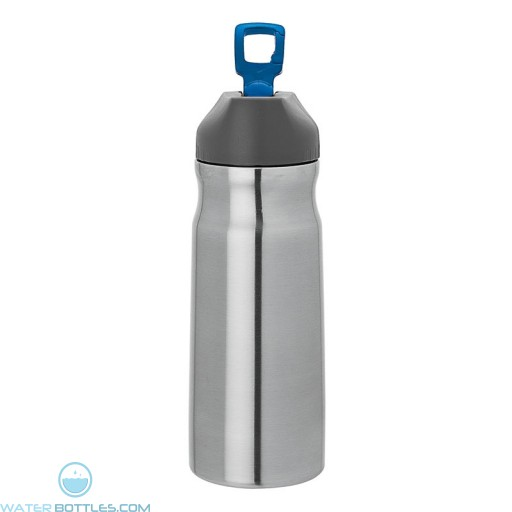 Steel Water Bottles | 26 oz - Stainless Steel with Blue Spout