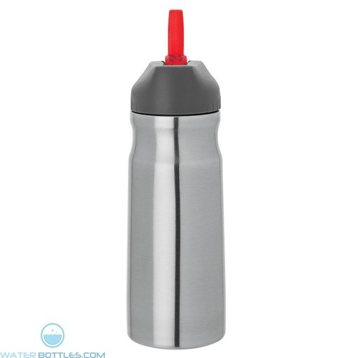Steel Water Bottles | 26 oz - Stainless Steel with Red Spout