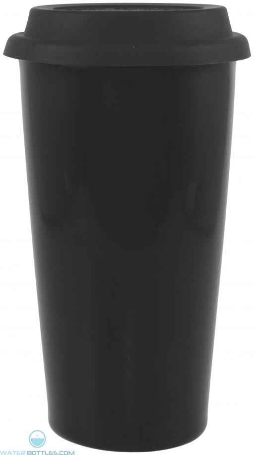 16 oz terra-black with black lid