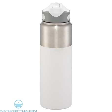 25 oz Nile Copper Vacuum Insulated Bottles-White