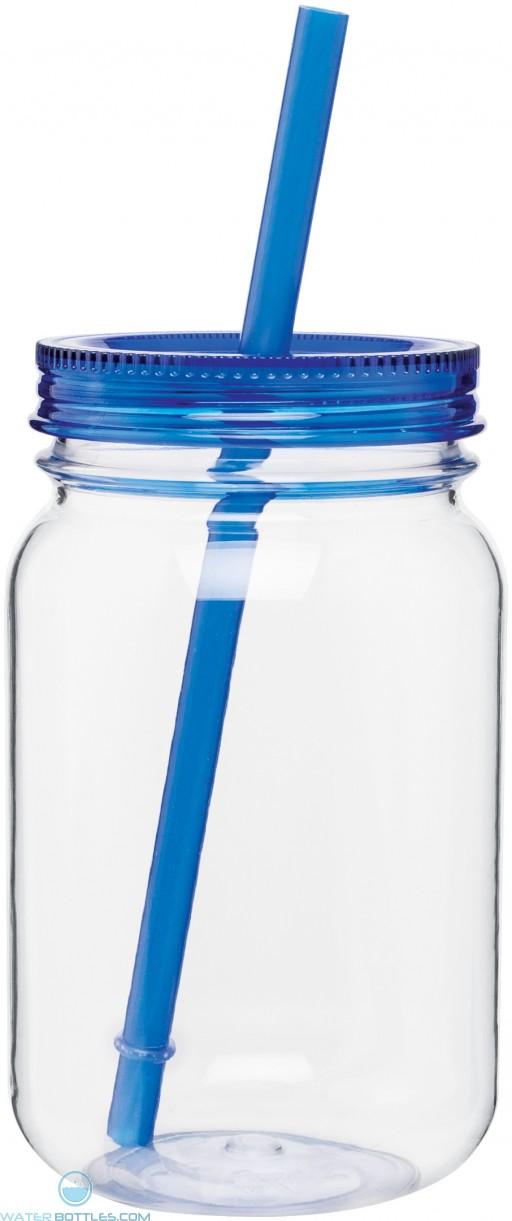 H2Go Tritan Mason Jar   25 oz - Blue